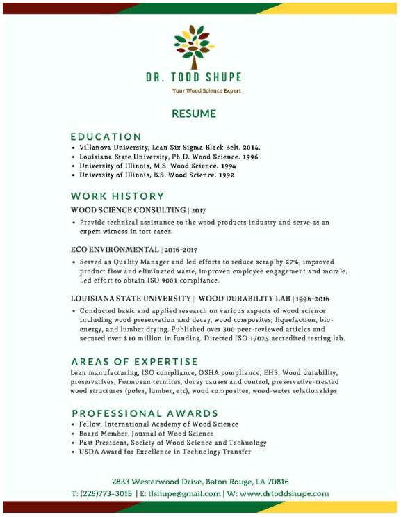 Todd Shupe Resume